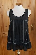 RIVER ISLAND black silver grey bead embroidered camisole vest tunic top 10 36