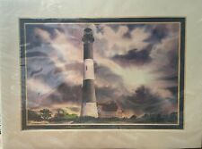 Harbour Lights Fire Island Light Signed Print Lighthouse Watercolor