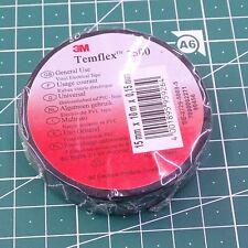 7503# 3M Ruban adhésif Isolation Électrique 15mm x10m Noir Temflex 1500 15x10sw