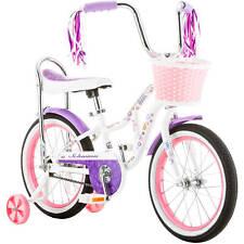 "16"" Girls Bloom Bike Kids Bicycle Ride On Toy Banana Seat with Handlebar Basket"