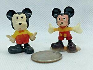(2) Walt Disney Productions Tiny Mickey Mouse Toy 1966 Hong Kong