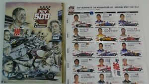 Official 2020 Indianapolis 500 104TH Running Event Program W- Starting Line-Up