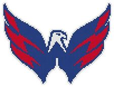 Counted Cross Stitch Pattern, Washington Capitals Logo - Free US Shipping