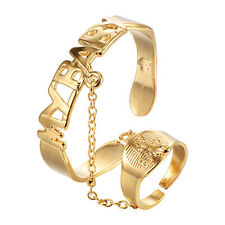 "Infant kids children bracelet Ring Set gold filled Adjustable Cuff  ""My Baby"""