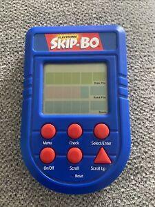 Electronic Skip-Bo Handheld Game Mattel 2002 Tested