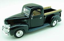 1940 Ford Pickup Black w/V8 Flathead Tri-Power 1:24 Scale Diecast Model Truck