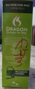 DRAGON Dictate for MAC Version 3 with Headset NEW SEALED Speech Recognition