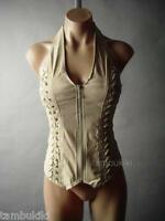Sale Corset Steampunk Western Desert Biker Fitted Top Shirt 21 mv Blouse S M L