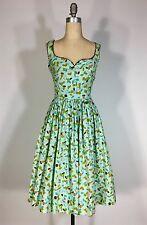 Vintage 1950's cotton TIDDLY WINKS NOVELTY PRINT homemade dress w/rick rack trim