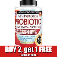 ULTRA PROBIOTIC 20 Billion CFU Plus 100mg Prebiotic Fiber Digestion Support 60ct