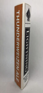Tap Handle Lightning Thunderweizen Ale Beer Tap handle Man Cave Lot AA
