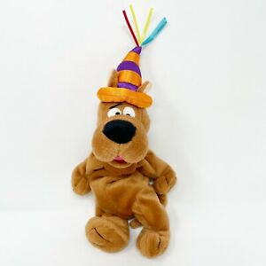 Vtg Warner Bros Studio Store Scooby Doo Plush Beanie Party Hat 1999 Dog Stuffed
