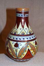 Antique Alfredo Santarelli Italian Faience Majolica Lustre Vase Deruta Ceramic