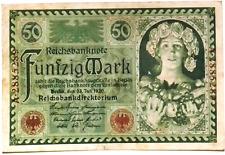 1920 Germany Weimar Republic 50 Mark Banknote