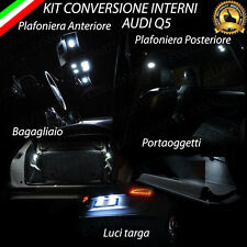 KIT LED INTERNI AUDI Q5 8R PLAFONIERA ANT.+POST.+PORTAOGGETTI+BAG.+ LUCI TARGA