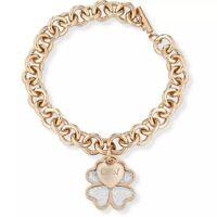 Ops Objects Bracciale Donna Collezione Glitter Oro Rosa Quadrifoglio OPSBR-357