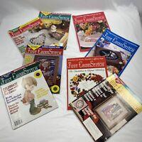 8 Vintage Just Cross Stitch Stitching Magazines lot 1991-1995 Pat Carson
