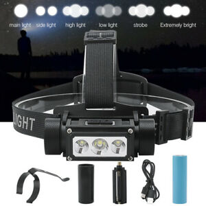 BORUiT B39 XM-L2 LED Headlamp Rechargeable Head Torch Hunting Light Flashlight