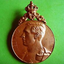 L@@k Monarchy King Albert of Belgium Wreath 1929 Award Bronze Medal by JOTTHIER!