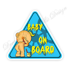 Baby on Board Child Full Color Adhesive Vinyl Sticker Window Car Bumper #075