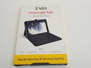 """New Zagg ZKB105MFN17 Tablet Keyboard and Case for iPad Air (3rd Gen.) & 10.5"""""""