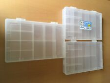3 plastic storage boxes for jewellery making, each with 13 compartments