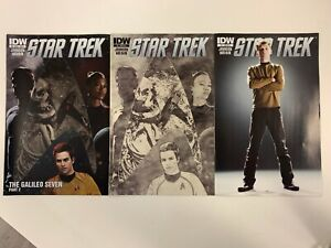 IDW STAR TREK #4 : 3 COVERS BUNDLE : A, RI-A, RI-B : NM CONDITION
