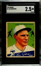 1934 Goudey #7 Leo Durocher SGC 2.5 HOF