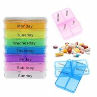 Pill box Organiser 7 Day Weekly Daily Coloured Storage Dispenser Medicine Box