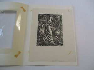 VINTAGE GERMAN EXPRESSIONIST WOODCUT ERNST PORTRAIT MODERNISM ABSTRACT