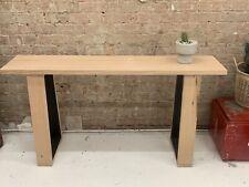Modern Hardwood Victorian Ash Hall Table Console