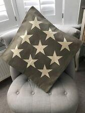 Grey Star Cushion Cover, New, 50 x 50cm, Home, Cushion, Interiors