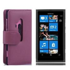 Para Nokia Lumia 800 libro bolso funda FLIP CASE funda protectora Wallet rosa