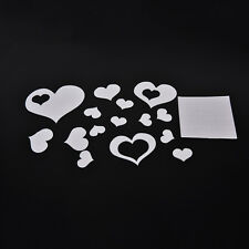 3D Heart Mirror Wall Stickers Decal Home DIY Decor Room Decoration NEW FO
