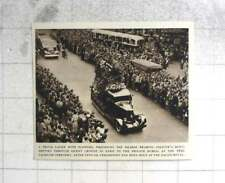 1954 Huge Crowds In Paris Paying Homage Collette Hearse