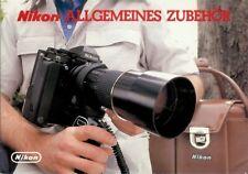 Broschüre Prospekt Nikon Allgemeines Zubehör Technische Daten
