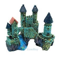 Aquarium Polyresin Castle Tower Cave Ornament Fish Tank Decoration Accessories A