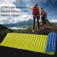 Inflatable Inflating Air Mattress Sleeping Pad Cushion Outdoor Bed Camping Mat