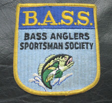 """B.A.S.S. BASS ANGLERS SPORTSMAN SOCIETY PATCH ANGLER FISH FISHING 3 1/4"""" x 3 1/2"""
