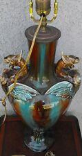 GORGEOUS & UNIQUE, LARGE VINTAGE COY FISH, TWIN DRAGON LAMP