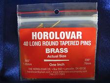 "40 Brass Tapered Pins - 1""x.065""x.030"" Clock Repair - Horolovar"