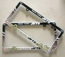 Lot of 2 NY New York Jets Car Truck License Plate Frames NEW - THIN PROFILE