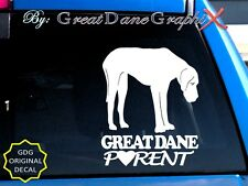 Great Dane PARENT(S) #3 - Vinyl Decal Sticker / Color Choice - HIGH QUALITY