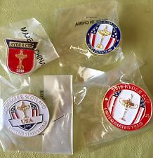 Rare Lot (4) Team USA Ryder Cup Pins 2010, 2012, 2014, 2016 Tiger Phil Bubba
