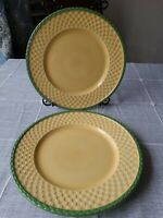 "Pfaltzgraff ""The Circle of Kindness"" 11 1/4"" Dinner Plate Basket Weave Set Of 2"