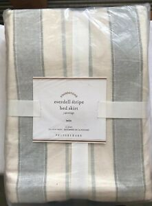 Pottery Barn Foundations Everdell Stripe Bed Skirt Twin