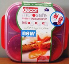 NEW Decor MICROWAVE EGG POACHER (For Up To 4 Eggs) Australian Made Breakfast etc