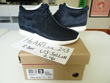 New Clarks x Grey Wall Traxter Navy Faux Fur Horse Hair SZ 10 MENS WINTER BOOTS