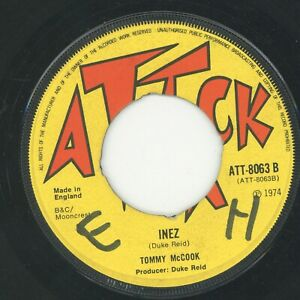 """"""" INEZ. """" tommy mc cook. ATTACK 7in 1974."""