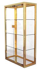 vitrines vintage métal chromé et doré design
